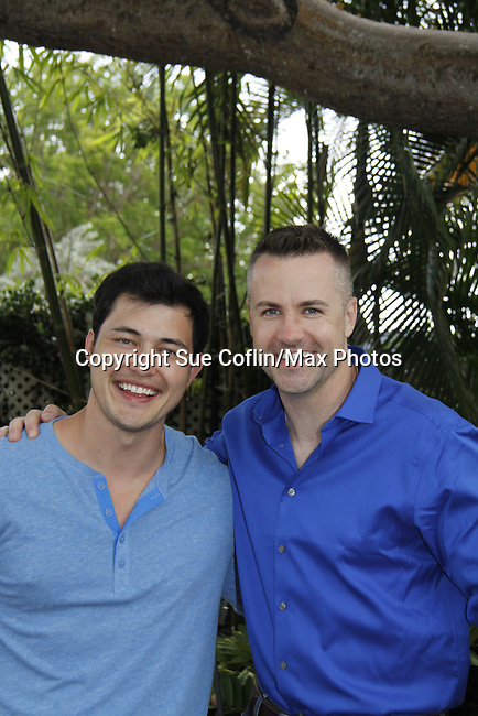 Christopher Sean & John Driscoll -  Actors from Y&R and Days donated their time to Southwest Florida 16th Annual SOAPFEST - a celebrity weekend May 22 thru May 25, 2015 benefitting the Arts for Kids and children with special needs and ITC - Island Theatre Co. as it presented A Night of Stars on May 23 , 2015 at Bistro Soleil, Marco Island, Florida. (Photos by Sue Coflin/Max Photos)