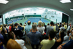 A standing room only crowd was on hand to watch the finals of the 2018 NCAA Men's Tennis Singles Championship between Wake Forest Demon Deacons teammates Petros Chrysochos and Borna Gojo at the Wake Forest Indoor Tennis Center on May 28, 2018 in Winston-Salem, North Carolina.  Petros Chrysochos defeated teammate Borna Gojo 6-3 6-3.  (Brian Westerholt/Sports On Film)
