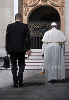 Pope Francis during his weekly general audience in St. Peter square at the Vatican, Wednesday.June 18, 2014.