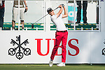 Thomas Detry of Belgium tees off the first hole during the 58th UBS Hong Kong Golf Open as part of the European Tour on 08 December 2016, at the Hong Kong Golf Club, Fanling, Hong Kong, China. Photo by Marcio Rodrigo Machado / Power Sport Images