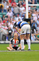 Photo: Tony Oudot/Richard Lane Photography. London Wasps v Bath Rugby. The St. George's Day Game. Guinness Premiership. 24/04/2010. .Wasps' Joe Simpson is dejected at the end of the match.