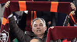 Calcio, Serie A: Roma vs Milan. Roma, stadio Olimpico, 22 dicembre 2012..AS Roma president James Pallotta holds up his team's scarf during the Italian Serie A football match between AS Roma and AC Milan at Rome's Olympic stadium, 22 December 2012.UPDATE IMAGES PRESS/Riccardo De Luca