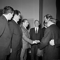 November 1968. Bezoek van Prins Albert aan de bouxxerken van de E3 autosnelweg.