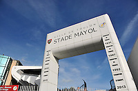 A general view of the Stade Mayol entrance. European Rugby Champions Cup match, between RC Toulon and Bath Rugby on January 10, 2016 at the Stade Mayol in Toulon, France. Photo by: Patrick Khachfe / Onside Images