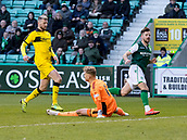 9th February 2019, Easter Road, Edinburgh, Scotland; Scottish Cup football fifth round, Hibernian versus Raith Rovers; Marc McNulty of Hibernian scores his sides 3rd goal which made it 3-0