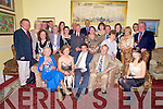 Ben Bradley, Caragh Lake, pictured with family and friends as he celebrated his 21st birthday in The Malton hotel, Killarney on Saturday night.