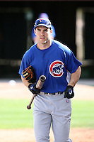 Matt Szczur of the Chicago Cubs works out at the Chicago Cubs spring training facility at Fitch Park on March 6, 2011 in Mesa, Arizona. .Photo by:  Bill Mitchell/Four Seam Images.