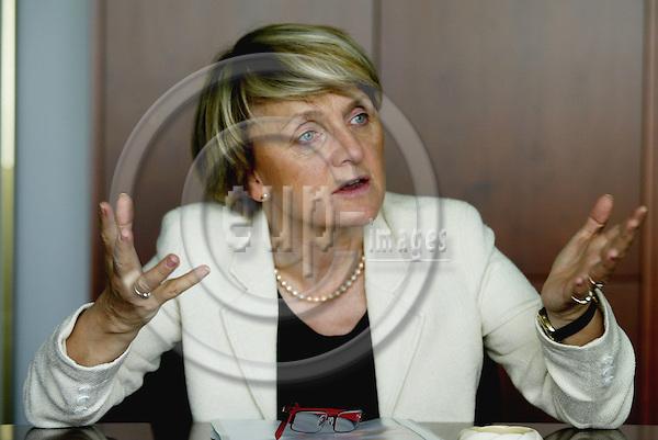 BRUSSELS - BELGIUM - 16 JUNE 2005 -- Danuta H?BNER (Hubner) EU Commissioner for Regional Policy.-- PHOTO: ERIK LUNTANG / EUP-IMAGES..