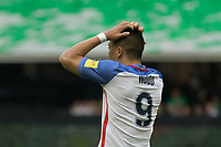 Mexico City, Mexico - Saturday June 10, 2017: Bobby Wood during a 2018 FIFA World Cup Qualifying Final Round match between the men's national teams of the United States (USA) and Mexico (MEX) at Azteca Stadium.