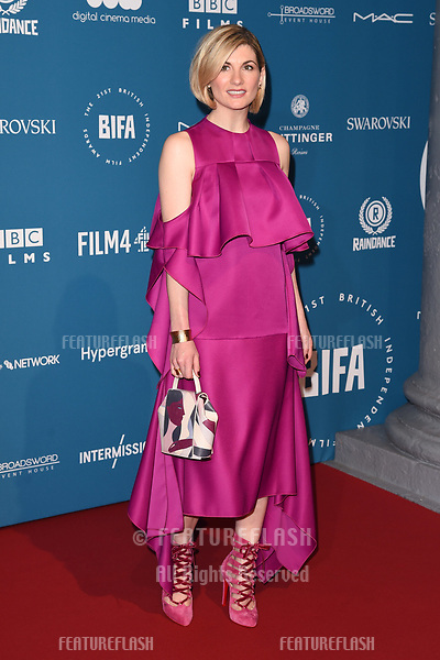 LONDON, UK. December 02, 2018: Jodie Whittaker at the British Independent Film Awards 2018 at Old Billingsgate, London.<br /> Picture: Steve Vas/Featureflash