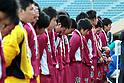 Shoshi team group,.JANUARY 7, 2012 - Football / Soccer :.Shoshi players are dejected after the 90th All Japan High School Soccer Tournament semifinal match between Shoshi 1-6 Yokkaichi Chuo Kogyo at National Stadium in Tokyo, Japan. (Photo by Hiroyuki Sato/AFLO)
