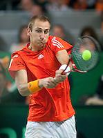 07-05-10, Tennis, Zoetermeer, Daviscup Nederland-Italie, Thiemo se Bakker