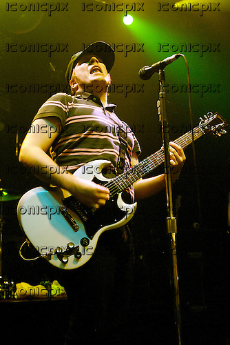 FALL OUT BOY - vocalist and guitarist Patrick Stump - performing live at the Astoria in London UK - 30 Jan 2006.  Photo credit: George Chin/IconicPix