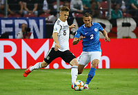 Joshua Kimmich (Deutschland Germany) gegen Gert Kams (Estland, Estonia) - 11.06.2019: Deutschland vs. Estland, OPEL Arena Mainz, EM-Qualifikation DISCLAIMER: DFB regulations prohibit any use of photographs as image sequences and/or quasi-video.
