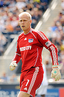 Kansas City Wizards goalkeeper Jimmy Nielsen (1). The Philadelphia Union and the Kansas City Wizards played to a 1-1 tie during a Major League Soccer (MLS) match at PPL Park in Chester, PA, on September 04, 2010.