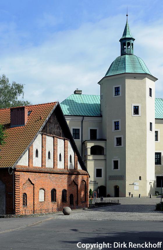 Schlossm&uuml;hle und Schloss in Slupsk (Stolp), Woiwodschaft Pommern (Wojew&oacute;dztwo pomorskie), Polen, Europa<br /> Castle amd castle-mill  in Slupsk,   Poland, Europe