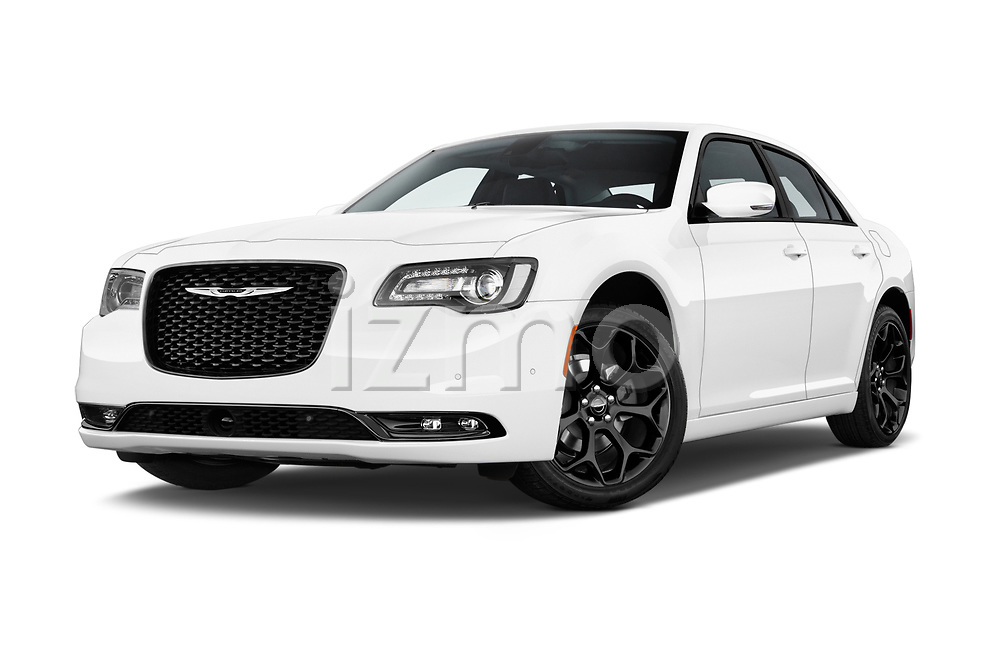 Stock pictures of low aggressive front three quarter view of a 2019 Chrysler 300 S 4 Door Sedan