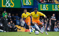 Gozie Ugwu of Wycombe Wanderers  in action during the Sky Bet League 2 match between Portsmouth and Wycombe Wanderers at Fratton Park, Portsmouth, England on 23 April 2016. Photo by Andy Rowland.
