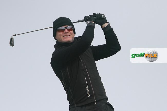 Jim Toal (St. Annes) on the 12th tee at the Hilary Golf Society at Royal Dublin Golf Club, Bull Island, Co.Dublin. 07/04/2013..(Photo Jenny Matthews/www.golffile.ie)