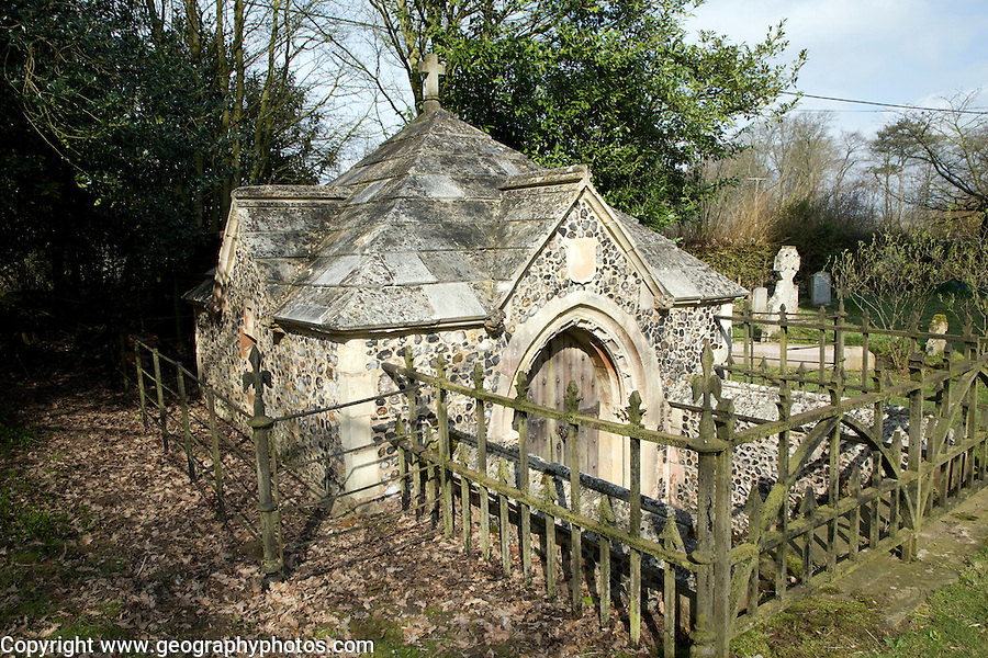 Fitzgerald family crypt Church of Saint Michael, Boulge, Suffolk