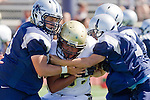 Torrance, CA 09/08/11 - Jeric Lagmay (Peninsula #65) in action during the North-Peninsula Junior Varsity Football game at North High School in Torrance.