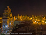 Cienfuegos main plaza at night