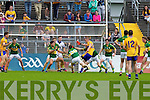 , Kerry in action against  , Clare in the Munster Senior Championship Semi Final in Cusack Park, Ennis on Sunday.
