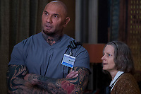 Hotel Artemis (2018) <br /> Dave Bautista &amp; Jodie Foster<br /> *Filmstill - Editorial Use Only*<br /> CAP/MFS<br /> Image supplied by Capital Pictures