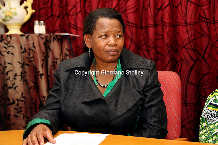 DURBAN - 25 March 2012 - Jane Manganye, the African National Congress' National Executive Committee convener for KwaZulu-Natal (KZN) attends a press conference after the organisation's KZN provincial executive committee was elected. Picture: Giordano Stolley/Allied Picture Press/APP