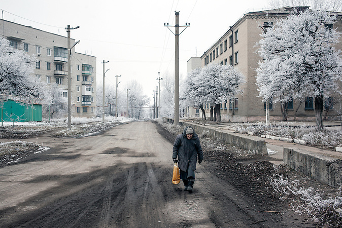 Myronivsky nahe Debaltsewo nach dem Abkommen von Minsk zu Beginn des Waffenstillstandes, 15.02.2015/   Myronivsky near Debaltseve after the  Minsk deal at the Begining of ceasefire_15.02.2014