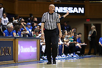 DURHAM, NC - JANUARY 26: Official Daryl Humphrey during a game between Georgia Tech and Duke at Cameron Indoor Stadium on January 26, 2020 in Durham, North Carolina.