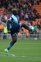 Adebayo Akinfenwa of Wycombe Wanderers during the Sky Bet League 2 match between Blackpool and Wycombe Wanderers at Bloomfield Road, Blackpool, England on 20 August 2016. Photo by James Williamson / PRiME Media Images.