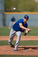 Chicago Cubs relief pitcher Mitch Stophel (39) during a Minor League Spring Training game against the Colorado Rockies at Sloan Park on March 27, 2018 in Mesa, Arizona. (Zachary Lucy/Four Seam Images)