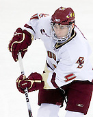 Tommy Cross (BC - 4) - The Boston College Eagles defeated the University of Massachusetts-Amherst Minutemen 5-2 on Saturday, March 13, 2010, at Conte Forum in Chestnut Hill, Massachusetts, to sweep their Hockey East Quarterfinals matchup.