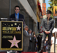 Lance Burton &amp; Criss Angel at the Hollywood Walk of Fame Star Ceremony honoring illusionist Criss Angel. Hollywood Boulevard, Los Angeles, USA 20 July 2017<br /> Picture: Paul Smith/Featureflash/SilverHub 0208 004 5359 sales@silverhubmedia.com