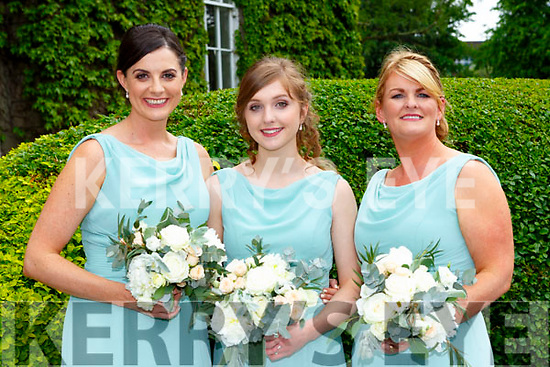 The bridesmaids at the Dan Healy-Rae and Linda Browne wedding on Saturday Maggie Haely Rae, Aine O'Sullivan and Roisin Brogan