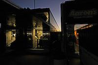 Haulers at daybreak.