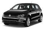 2014 Volkswagen POLO SPORTLINE 5 Door Hatchback 2WD Angular Front stock photos of front three quarter view