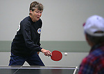 Betty Young practices for the Reno Tahoe Senior Games table tennis competition at the Carson City Senior Citizen Center in Carson City, Nev., on Friday, Jan. 29, 2016. <br /> Photo by Cathleen Allison