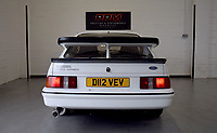 BNPS.co.uk (01202 558833)<br /> Pic: PPMMiltonKeynes/BNPS<br /> <br /> 80's classic with a very special badge. <br /> <br /> A pre-production prototype of the legendary Ford Sierra Cosworth RS500 has emerged for sale for a whopping £120,000.<br /> <br /> The RS500 was the road going version of Ford's iconic rally car with only 500 built in order to meet racing regulations.<br /> <br /> This one was the very first to be built in 1987 and in more recent times was road tested by Richard Hammond on the Grand Tour.