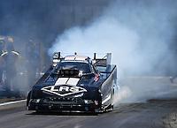 Jun 18, 2016; Bristol, TN, USA; NHRA funny car driver Tim Wilkerson during qualifying for the Thunder Valley Nationals at Bristol Dragway. Mandatory Credit: Mark J. Rebilas-USA TODAY Sports