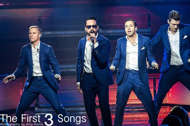 AJ McLean of the Backstreet Boys performs at Riverbend Music Center in Cincinnati, Ohio.