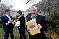 Monday March 2nd 2015: REPRO FREE: Pictured at the launch of the establishment of an expert advisory group to assist the development of rural development policy and implementation of the Government&rsquo;s CEDRA report on Monday were Minster Alan Kelly and Minister Ann Phelan  and Pat Spillane chairman. <br /> Photo: Don MacMonagle<br /> <br /> Minster Alan Kelly and Minister Ann Phelan today (2 March, 2015) announced the establishment of an expert advisory group to assist the development of rural development policy and implementation of the Government&rsquo;s CEDRA report. The group, which will be chaired by Pat Spillane, contains a number of prominent business leaders, academics and a former county manager. Included in the group are Pat McDonagh, MD of Supermacs, Dr.Edmund Harty, MD of Dairymaster, Chris Martin, CEO of Musgraves  as well as journalist, Helen Carroll. They will form an expert Advisory Group to support the implementation of the recommendations of the report of the Commission for the Economic Development of Rural Areas (CEDRA). This group will be chaired by Mr Pat Spillane who was also the chair of the original commission that completed their work in 2013. CEDRA was established in 2012 to examine the potential for economic development in rural Ireland out to 2025. The report contains 34 recommendations, the implementation of which the expert group is appointed to assist. Minister Kelly said &ldquo;I am delighted that people of this calibre are willing to assist in the economic development of rural Ireland. The people on this group will represent the reality of the rural economy in Ireland and give the Interdepartmental Group (IDG) an &lsquo;on the ground&rsquo; perspective when establishing systems and frameworks to support rural development. In this context I am also delighted to welcome back Mr Pat Spillane who will chair this group and whose energy and determination were critical in the excellent work of CEDRA reflected in its recommendations. I am very much looking forward to working