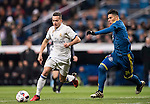 Lucas Vazquez (l) of Real Madrid fights for the ball with Facundo Roncaglia of RC Celta de Vigo during their Copa del Rey 2016-17 Quarter-final match between Real Madrid and Celta de Vigo at the Santiago Bernabéu Stadium on 18 January 2017 in Madrid, Spain. Photo by Diego Gonzalez Souto / Power Sport Images