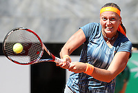 La ceca Petra Kvitova in azione durante gli Internazionali d'Italia di tennis a Roma, 14 Maggio 2013..Czech Republic's Petra Kvitova in action during the Italian Open Tennis WTA tournament in Rome, 14 May 2013.UPDATE IMAGES PRESS/Riccardo De Luca