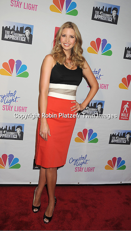 Ivanka Trump in Carolina Herrera dress attends The Celebrity Apprentice Live Finale at The Museum of Natural History in New York City on May 20, 2012.
