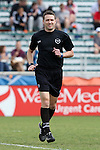 02 April 2016: Referee Mathieu Bordeau. The Carolina RailHawks hosted Minnesota United FC at WakeMed Stadium in Cary, North Carolina in a 2016 North American Soccer League Spring Season game. Carolina won the game 2-1.