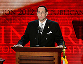 Rabbi Meir Soloveichik of New York, New York delivers the Invocation at the start of the day's program at the 2012 Republican National Convention in Tampa Bay, Florida on Tuesday, August 28, 2012.  .Credit: Ron Sachs / CNP.(RESTRICTION: NO New York or New Jersey Newspapers or newspapers within a 75 mile radius of New York City)