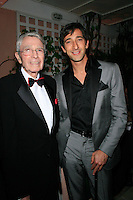 Beverly Hills, California - September 7, 2006.Army Archerd and Adrien Brody at the Afterparty for the Los Angeles Premiere of Hollywoodland at the Beverly Hills Hotel..Photo by Nina Prommer/Milestone Photo