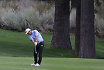 Cameron Beckman hits a chip shot during the Barracuda Championship PGA golf tournament at Montrêux Golf and Country Club in Reno, Nevada on Friday, July 26, 2019.